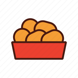 chicken, fast, food, nuggets icon