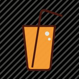fast, food, juice, orange, soda icon