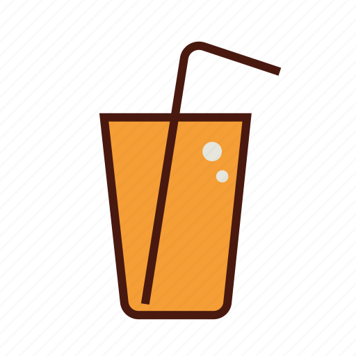 fast, food, juice, orange, soda icon