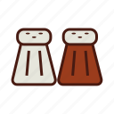 condiments, fast, food, pepper, salt icon