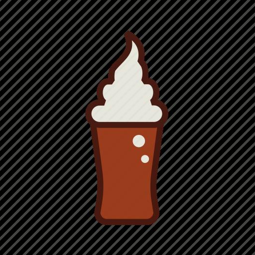 dessert, fast, float, food, ice cream, soda icon