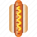 sausage, snack, food, fast, hot dog, pastry