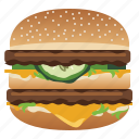 burger, cheeseburger, fast, food, hamburger, snack, yumminky icon
