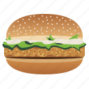 burger, chicken burger, fast, food, hamburger, snack, yumminky icon