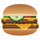 burger, double cheeseburger, fast, food, hamburger, snack, yumminky icon