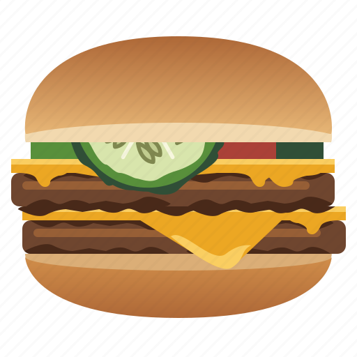 Burger, double cheeseburger, fast, food, hamburger, snack icon - Download on Iconfinder