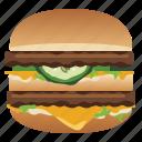 burger, cheese, fast, food, hamburger, snack, yumminky icon