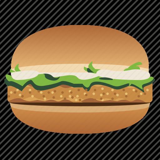 Burger, chicken burger, fast, food, hamburger, snack icon - Download on Iconfinder
