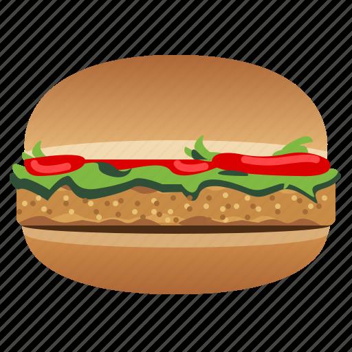 Chicken burger, fast, food, hamburger, snack, tomato icon - Download on Iconfinder