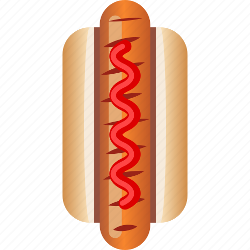 Fast, food, hot dog, ketchup, sausage, snack icon - Download on Iconfinder