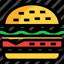 burger, fast, food, hamburger