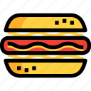 bread, fast, food, sausage icon