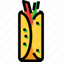 chinese, fast, food, spring rolls icon