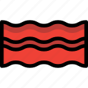 bacon, fast, food, meat icon