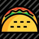 fast, food, taco icon