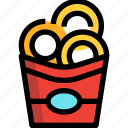 fast, food, onion ring, snack icon