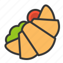 croissant sandwich, fast food, food, junk food, sandwich icon