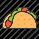 fast food, food, junk food, sandwich, taco, tacos icon