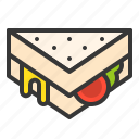 club sandwich, fast food, food, grilled sandwich, junk food, sandwich icon
