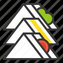 club sandwich, fast food, food, junk food, sandwich icon