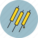 cheese, food, stick icon