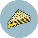 bread, cheese, food, grilled, sandwich icon
