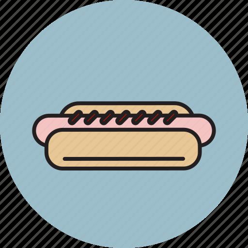 bread, dog, hot, ketchup, sausage icon