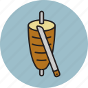 chicken, doner, hot, meat, pork icon