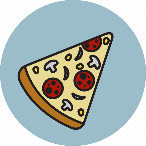 corn, mushroom, onion, pepperoni, pizza icon