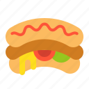 fast food, food, hot dog, junk food, sandwich icon