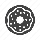 donut, doughnut, fast, food, junk, sweet icon