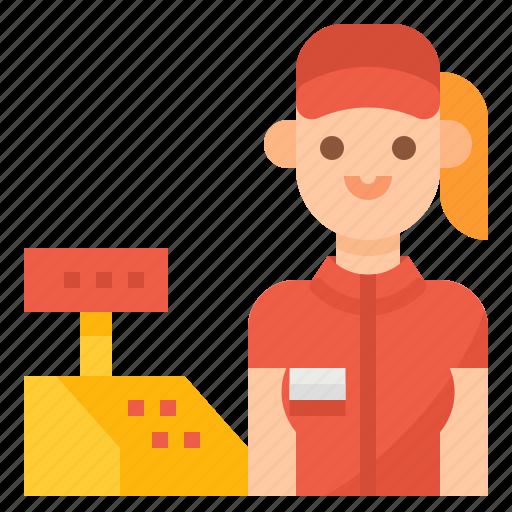 Cashier, fast, food, order icon - Download on Iconfinder