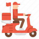bike, delivery, food, transportation icon