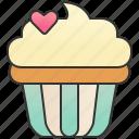 bakery, cream, cupcake, muffin, patisserie icon