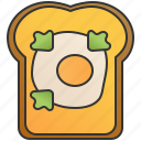 bread, breakfast, brunch, egg, toast icon