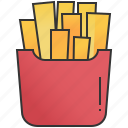 crispy, french, fries, potato, snack