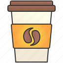cafe, coffee, cup, hot, takeaway icon