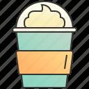 cream, drink, float, ice, sweet icon