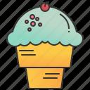 cone, cream, gelato, ice, waffle