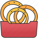 crispy, fired, onion, ring, snack icon