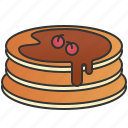 breakfast, chocolate, dessert, pancake, syrup icon