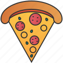 cheese, crust, dinner, pepperoni, pizza icon