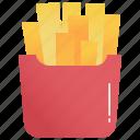 crispy, french, fries, potato, snack icon