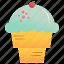 cone, waffle, gelato, ice, cream icon