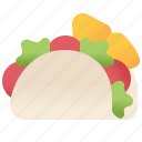 salad, spicy, mexican, meat, tacos icon