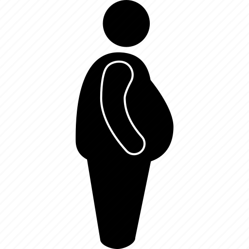big, fat, man, obese, obesity, overweight, tummy icon