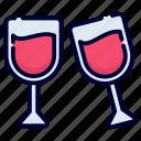 drink, celebration, wine, glass, alcohol, beverage