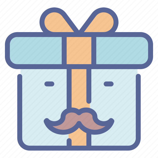 day, fathers, gift, present icon