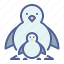 day, father, penguin, son icon
