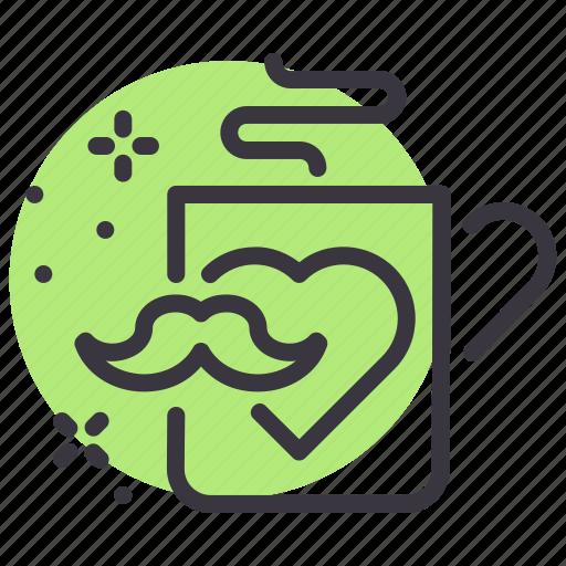 coffee, day, fathers, mug icon
